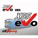 Evolution eVo X40 vers eVo X55